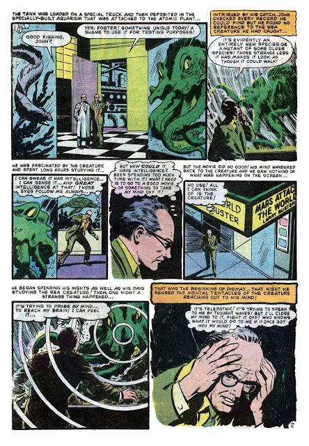 World of Suspense v1 #7 atlas comic book page art by Al Williamson