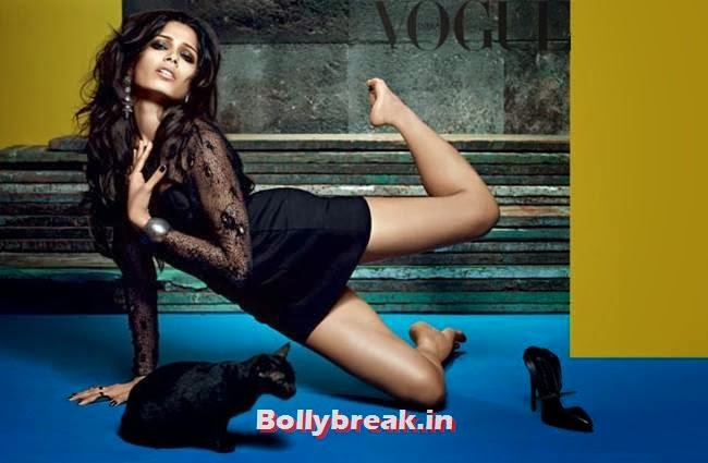 Freida Pinto Hot Vogue India  Photo