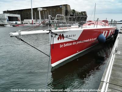 MACSF de Bertrand de Broc à Lorient juste après son dématage.