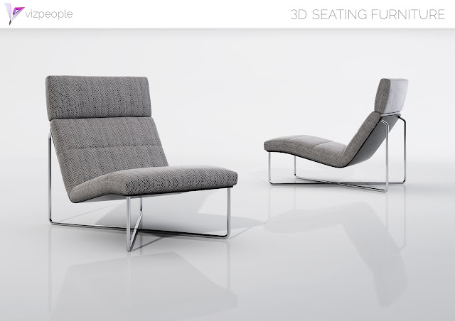 [3D Model Free] Seating Furniture set 2