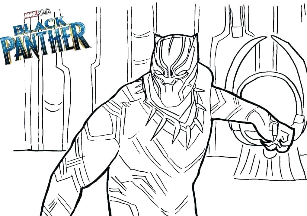 Black Panther In Marvel Coloring Page Free Printable Coloring