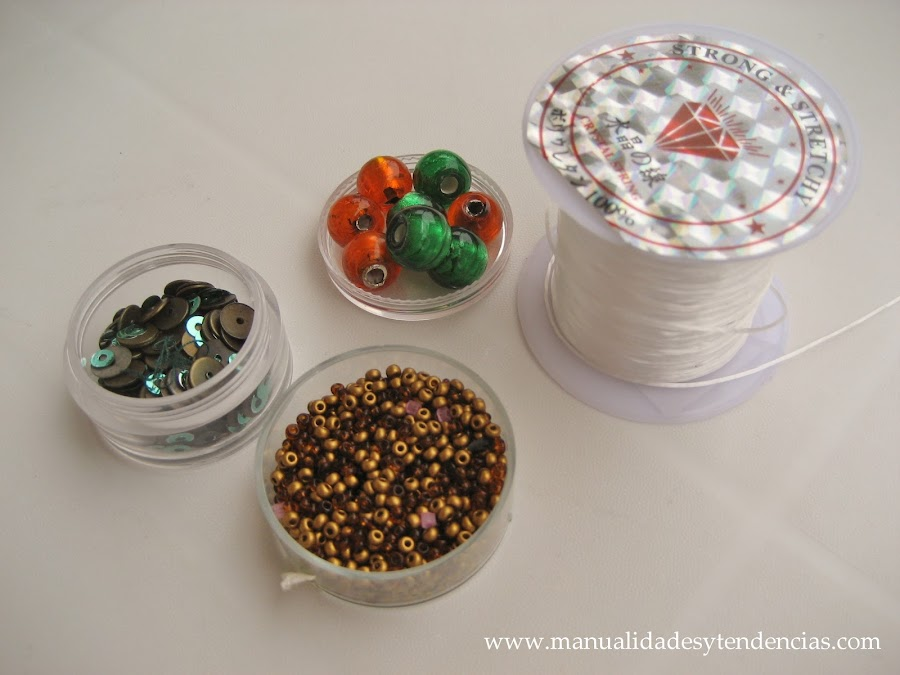 Materiales pulsera de charms