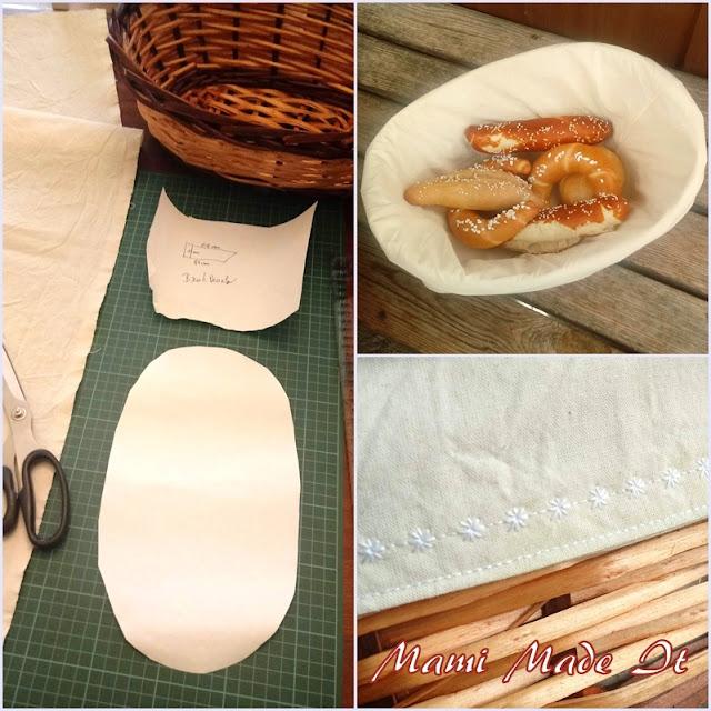 DIY Brotkorbeinlage nähen - Bread Basket Cover