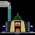 مخطط مسجد Mosque صغير بطابقين بتصميم جميل اوتوكاد dwg