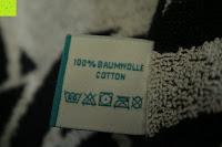 """Waschsymbole: ZOLLNER hochwertiges Strandlaken / Strandtuch / Badetuch 100x200 cm marine-weiß, in weiteren Farben erhältlich, direkt vom Hotelwäschehersteller, Serie """"Marina"""""""