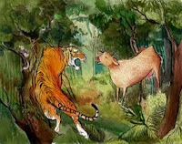 The cow and the tiger