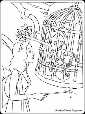 coloring pages for pinocchio