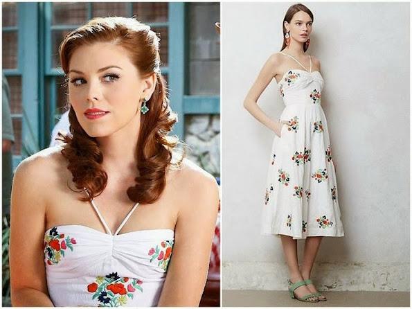 Annabeth Nass, Kaitlyn Black, wears a summery dress by Leifsdottir, with Danielle Stevens earrings