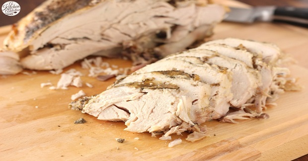 Easy Slow Cooker Herbed Butter Turkey Breast Recipe