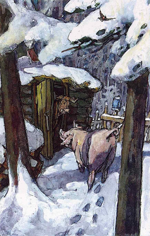 Wilhelm M. Busch color illustration