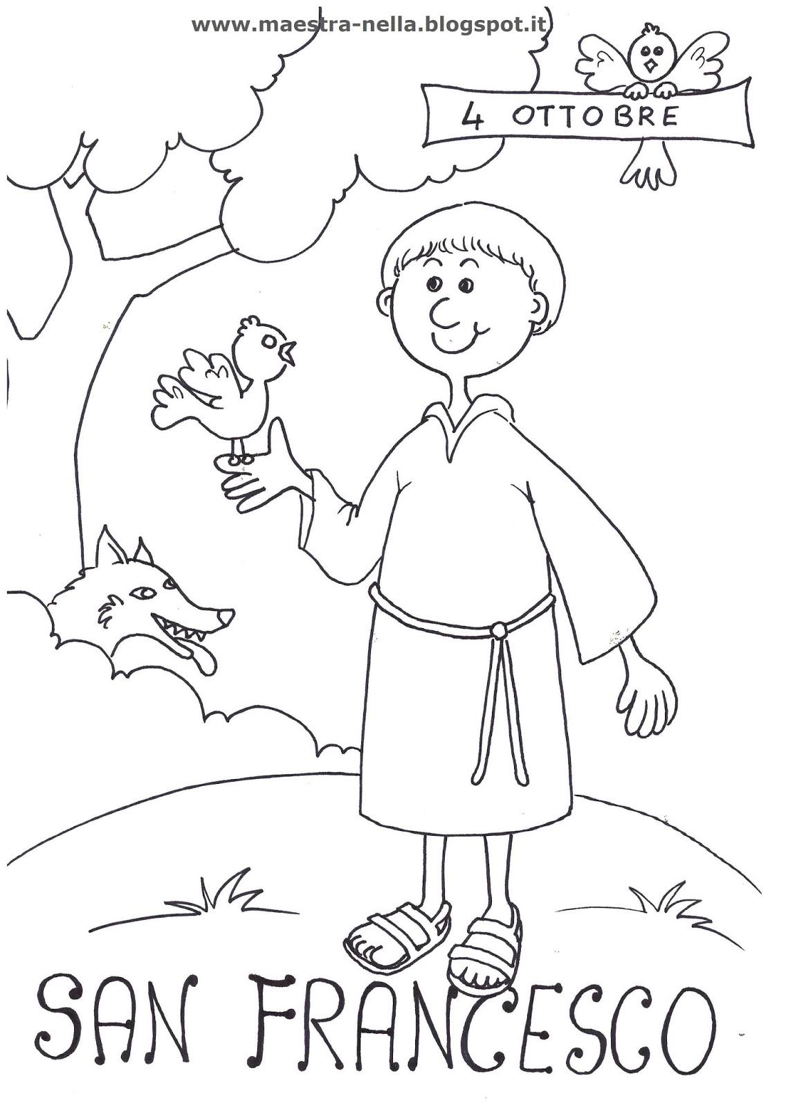 Eccezionale maestra Nella: San Francesco d'Assisi - 4 ottobre WR68