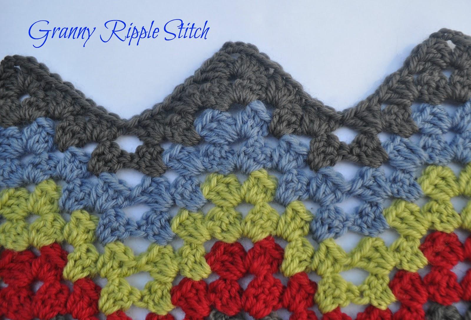 Granny Ripple Stitch Tutorial: Sew Filomena: Granny Ripple Stitch