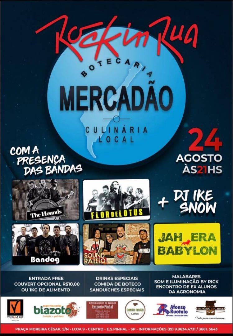 Rock in Rua: evento gratuito promete agitar a sexta-feira em Espírito Santo do Pinhal