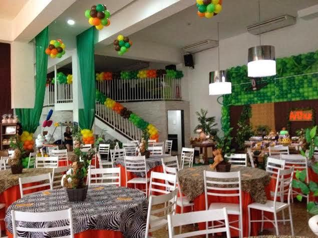 decoração festa safari
