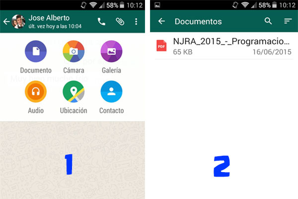 Como enviar Documentos por Whatsapp