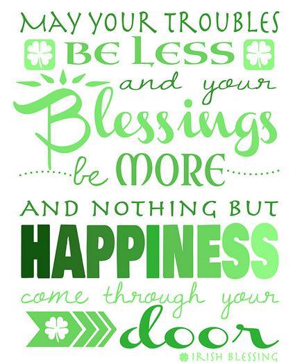 Happy st patricks day 2018 irish blessings sayings on st irish blessings and saying on st patricks day m4hsunfo