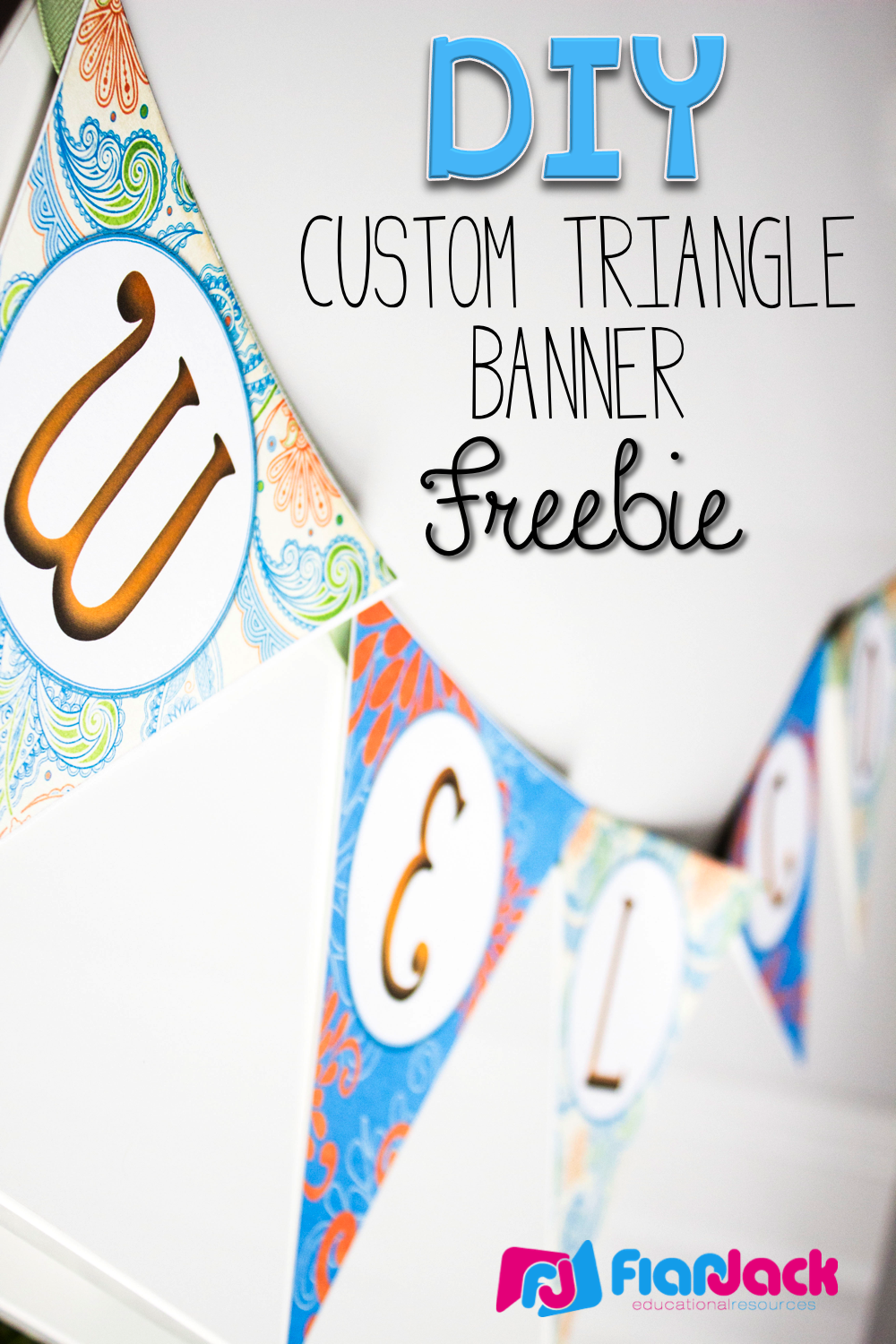 http://www.teacherspayteachers.com/Product/DIY-Custom-Triangle-Banner-Template-FREEBIE-1343806