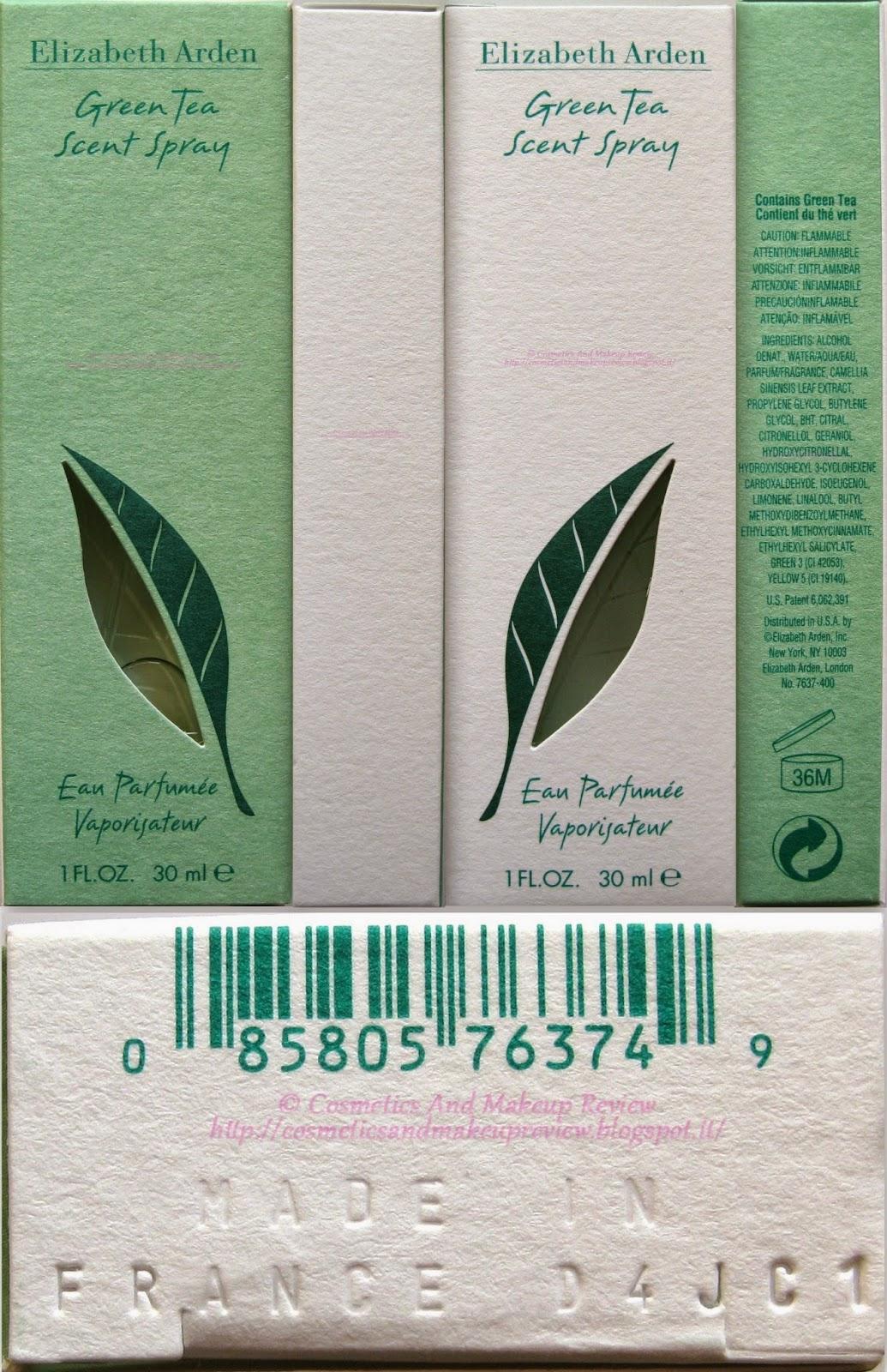 Elizabeth Arden - Green Tea Scent Spray - Eau Parfumée Vaporisateur - confezione