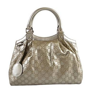 Gucci Women's Faded Gold Leather Guccisima Print Handbag
