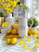 Lemon Themed Drink & Snack Station