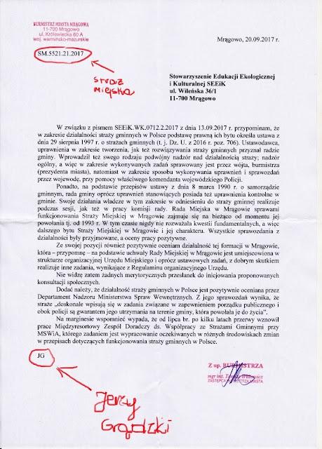 Mrągowo: Nie będzie konsultacji w sprawie straży miejskiej w Mrągowie