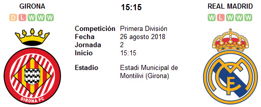 Girona vs Real Madrid en VIVO