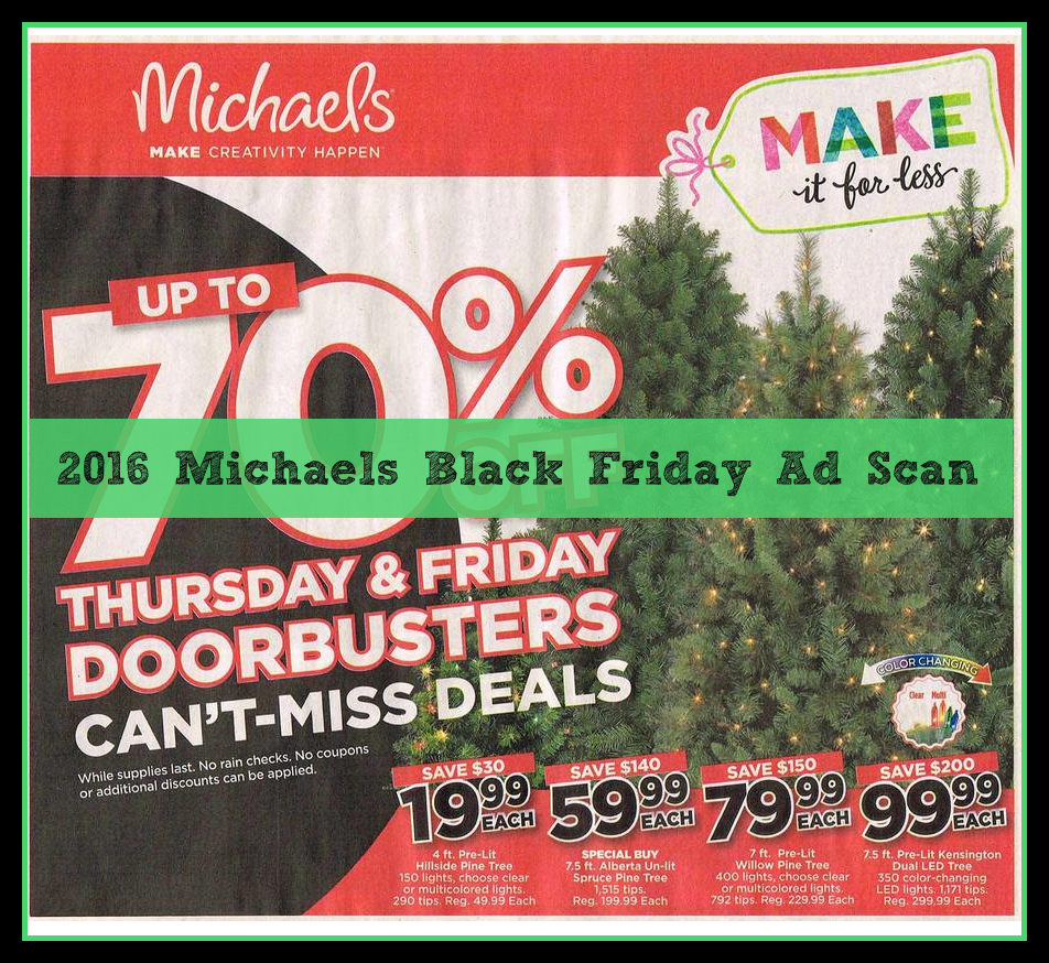 Michaels 2016 Black Friday Ad Scan Leaked Online