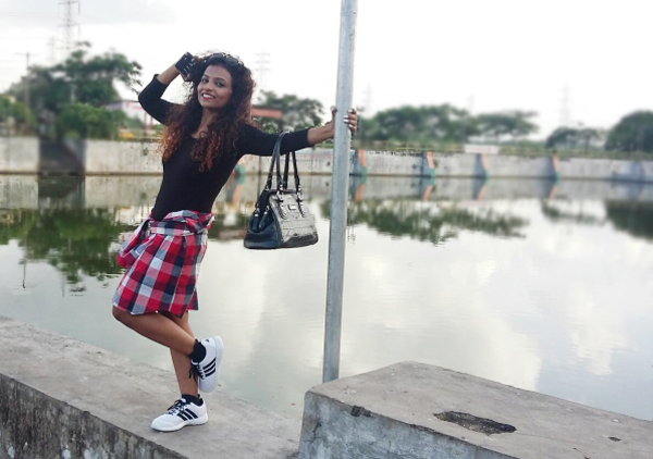 plaid shirt and dress indian fashion blogger