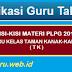 KISI-KISI MATERI PLPG 2017 GURU KELAS TAMAN KANAK-KANAK (TK)