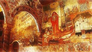 A Vida e A Morte, na Igreja de Huaro, Cusco