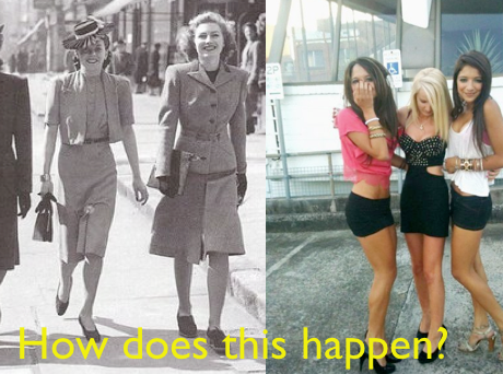 Sense. Girls then vs now