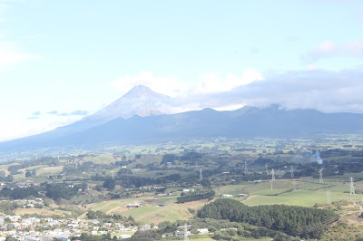 View of mighty Taranaki peak from Paritutu rock