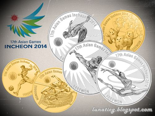 17th Asian Games Coins Incheon 2014 - Asian Games Notes