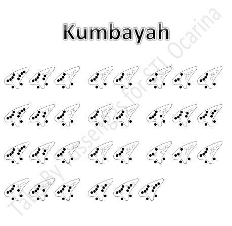 陶笛曲譜網: 《Kumbayah》12孔陶笛譜