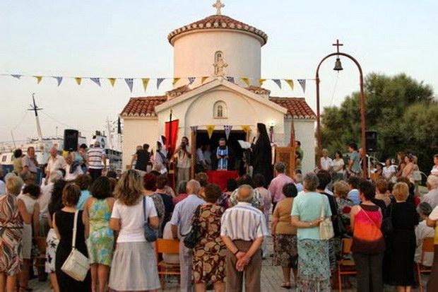 Εορτασμός του Αγίου Εύπλου στο λιμάνι της Αλεξανδρούπολης