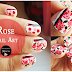 Rose Flower Nail Art