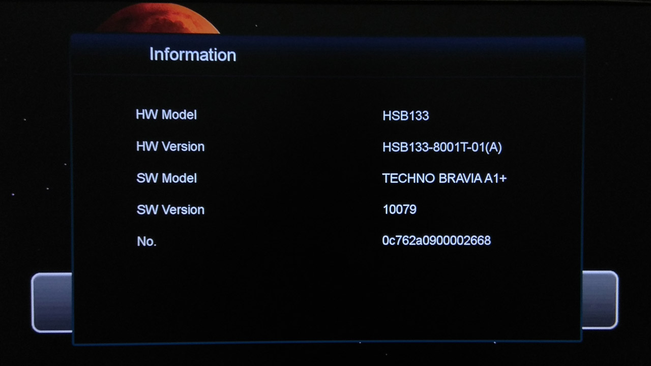 Firmware Techno Bravia A1 Plus New Software Update