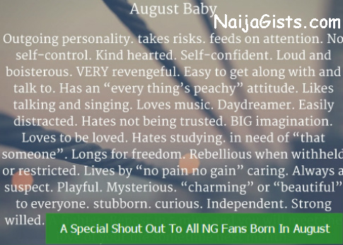 august baby personalities