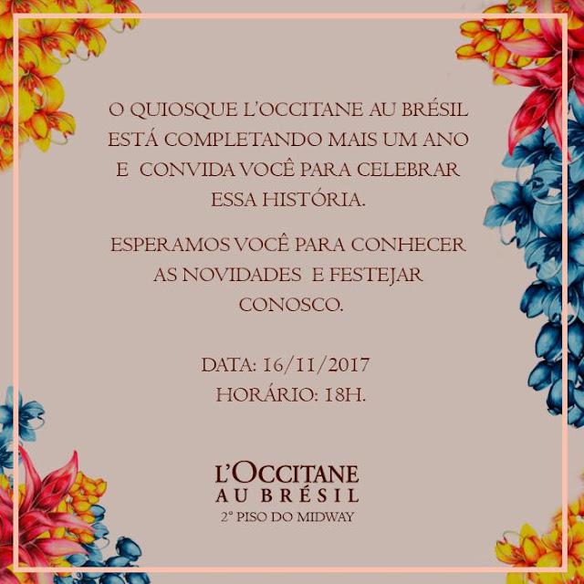 L'Occitane au Brésil comemora três anos no Midway Mall