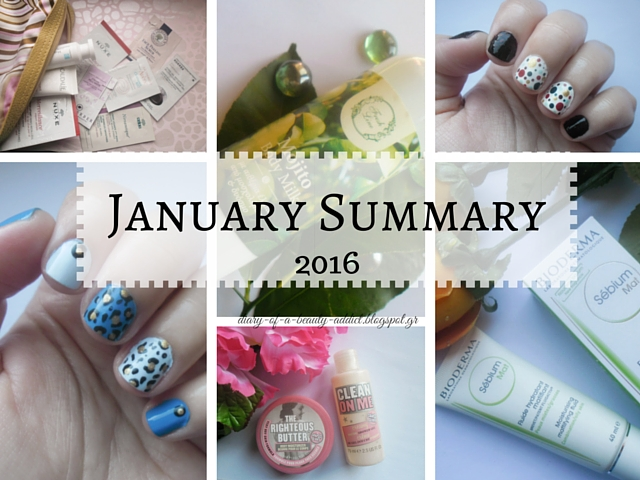 monthly summary january 2016