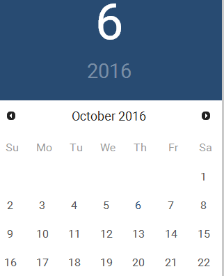 UI Datepicker with Material Design using CSS and jQuery