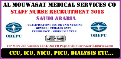 ODEPC Al Mouwasat Medical Services Co Saudi Arabia Skype Interviews  2018