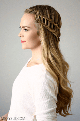 Creative And Attractive Ladder Braid Style