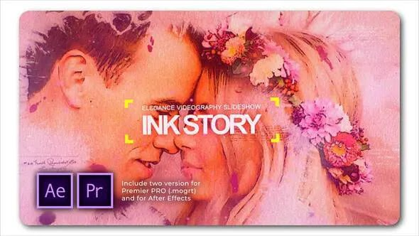 Videohive Clean Ink Watercolor Slideshow 28340192