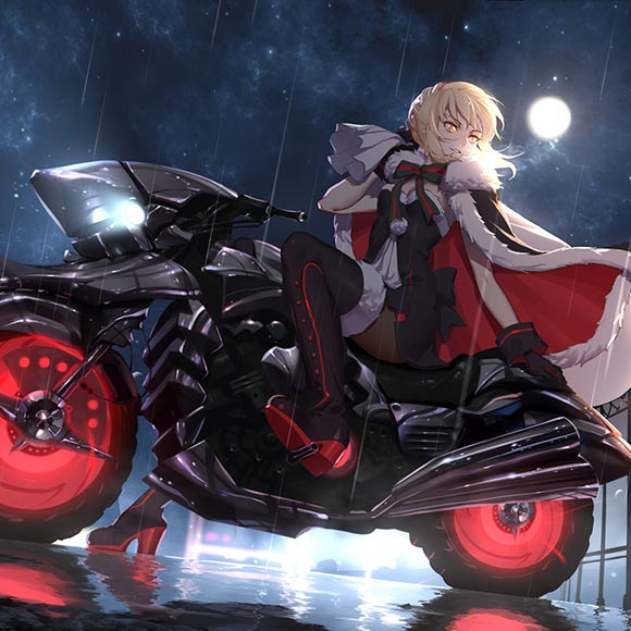 Evil Santa (Saber) Alter Wallpaper Engine