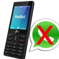 jio phone Whatsapp