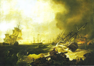 The Battle of Quiberon Bay, 21 November 1759: the Day After by Richard Wright. (National Maritime Museum, Greenwich)