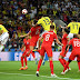 World Cup 2018: Colombia levels with England at full time