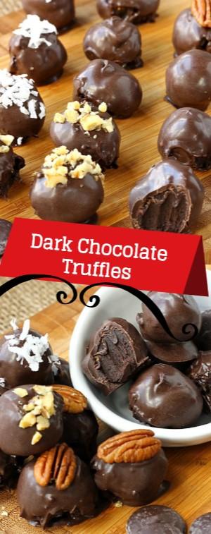 Dark Chocolate Truffles #christmas #snack