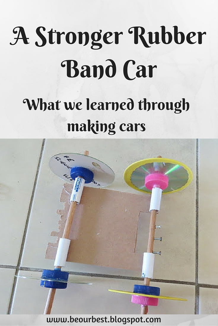 how to make the best rubber band car